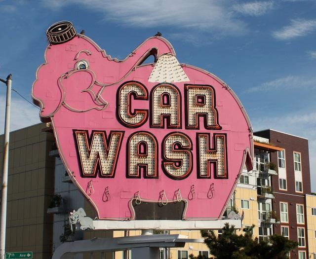 洗車場の看板
