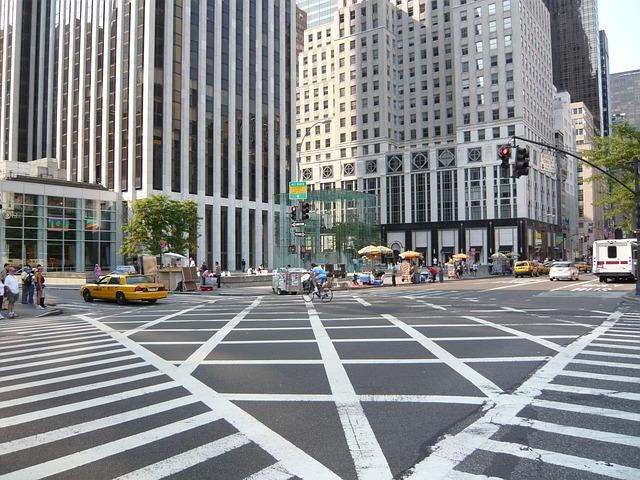 New York ニューヨークの交差点