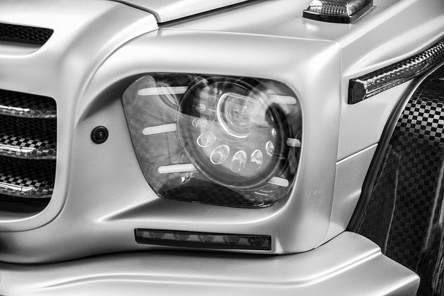 メルセデス・ベンツGクラス、LEDヘッドライト